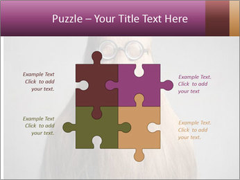 Glasses In Woman's Hair PowerPoint Template - Slide 43