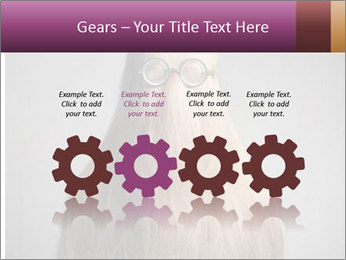 Glasses In Woman's Hair PowerPoint Template - Slide 48