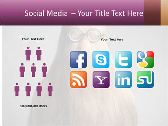 Glasses In Woman's Hair PowerPoint Template - Slide 5