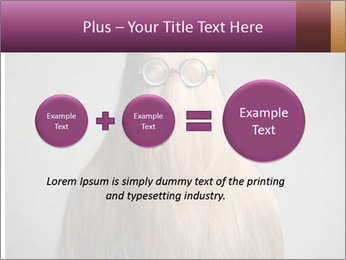 Glasses In Woman's Hair PowerPoint Template - Slide 75