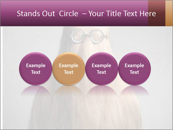 Glasses In Woman's Hair PowerPoint Templates - Slide 76