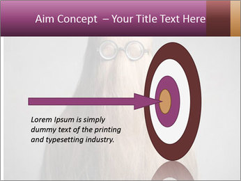 Glasses In Woman's Hair PowerPoint Template - Slide 83