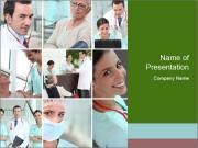 Clinic Photo Collage PowerPoint Template