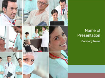Clinic Photo Collage PowerPoint Templates - Slide 1