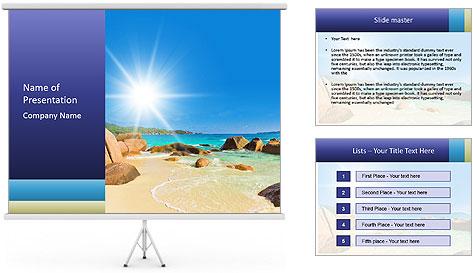 Australian Beach PowerPoint Template