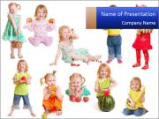 Girl with fruit PowerPoint Templates