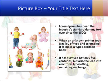 Girl with fruit PowerPoint Template - Slide 13