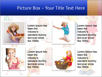 Girl with fruit PowerPoint Template - Slide 14