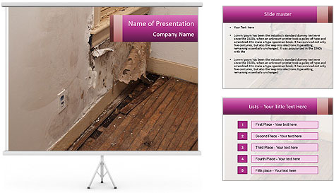 Rotten Wall PowerPoint Template