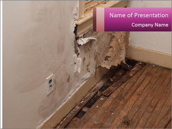 Rotten Wall PowerPoint Template - Slide 1