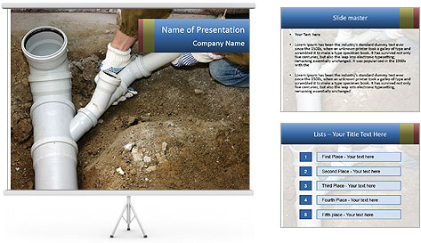Rotten Pipe PowerPoint Template