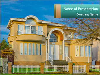 Grand House PowerPoint Template - Slide 1