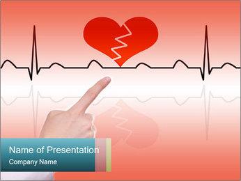 Broken Heart PowerPoint Template - Slide 1