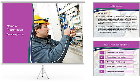 Electricity Troubleshooting PowerPoint Template