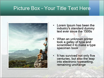 Freedom on top of the mountain PowerPoint Template - Slide 13