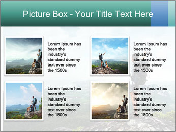Freedom on top of the mountain PowerPoint Template - Slide 14