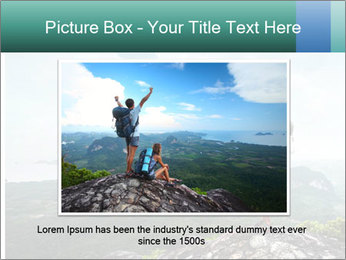 Freedom on top of the mountain PowerPoint Template - Slide 15