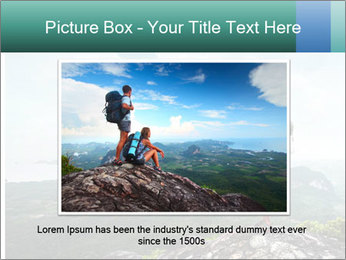 Freedom on top of the mountain PowerPoint Template - Slide 16