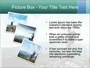 Freedom on top of the mountain PowerPoint Template - Slide 17