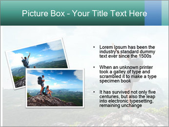 Freedom on top of the mountain PowerPoint Template - Slide 20