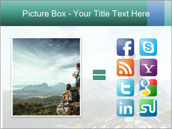 Freedom on top of the mountain PowerPoint Template - Slide 21