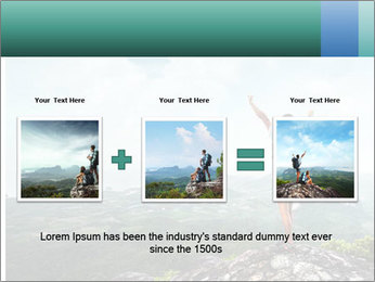 Freedom on top of the mountain PowerPoint Template - Slide 22