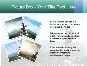 Freedom on top of the mountain PowerPoint Template - Slide 23