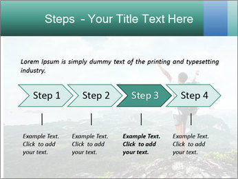 Freedom on top of the mountain PowerPoint Template - Slide 4