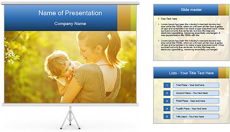 Mom and Baby PowerPoint Template