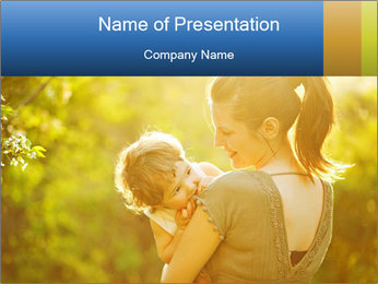 Mom and Baby PowerPoint Template - Slide 1