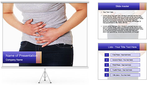 Women's pain PowerPoint Template
