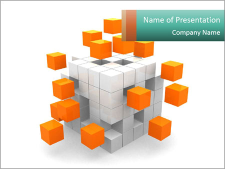 Disassembled box PowerPoint Templates