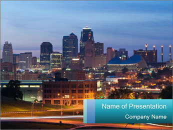 Evening city PowerPoint Templates - Slide 1