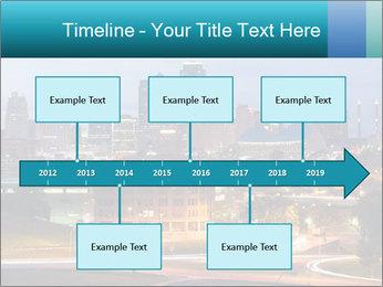 Evening city PowerPoint Template - Slide 28