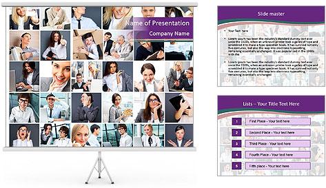 Office employee PowerPoint Template