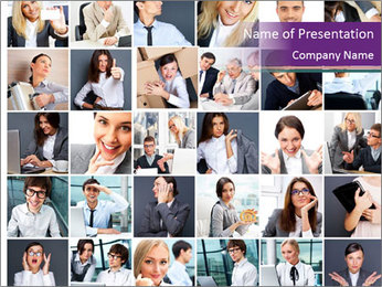 Office employee PowerPoint Template
