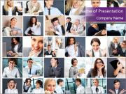 Office employee PowerPoint Templates