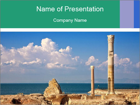 Columns PowerPoint Template