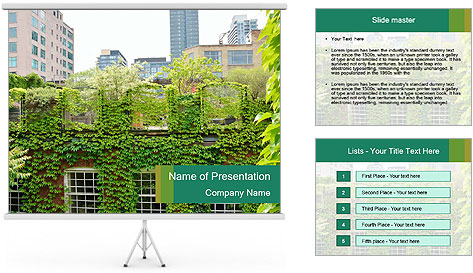 Green house PowerPoint Template