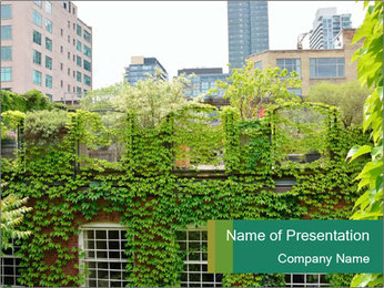 Green house PowerPoint Template - Slide 1