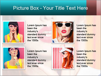 Beautiful girl in sunglasses PowerPoint Templates - Slide 14