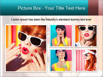 Beautiful girl in sunglasses PowerPoint Templates - Slide 19