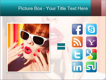 Beautiful girl in sunglasses PowerPoint Templates - Slide 21