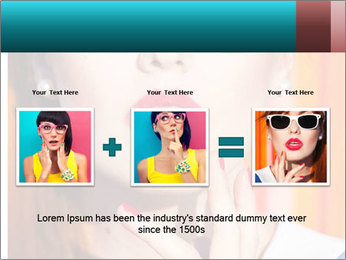 Beautiful girl in sunglasses PowerPoint Templates - Slide 22