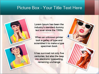 Beautiful girl in sunglasses PowerPoint Templates - Slide 24