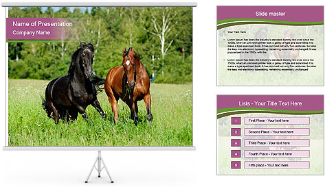 Horses PowerPoint Template