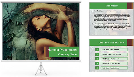 Incredible girl PowerPoint Template