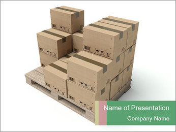 Packing boxes PowerPoint Template - Slide 1