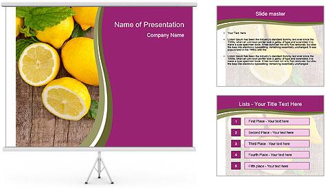 Lemon PowerPoint Template