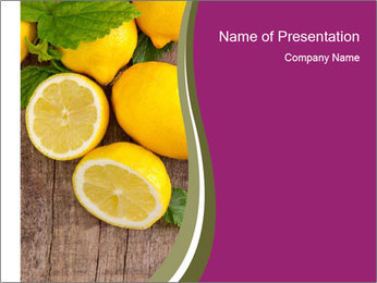 Lemon PowerPoint Template
